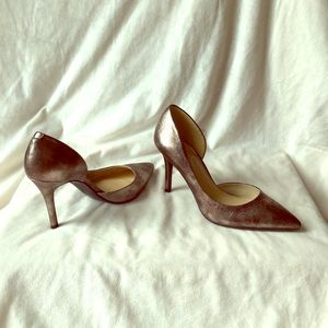 Jessica Simpson metallic shoes—barely used!